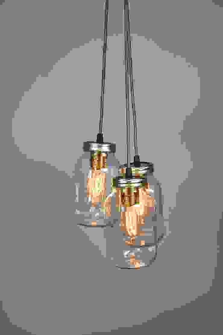 3 Jam Jar Pendant Light par Little Mill House Industriel