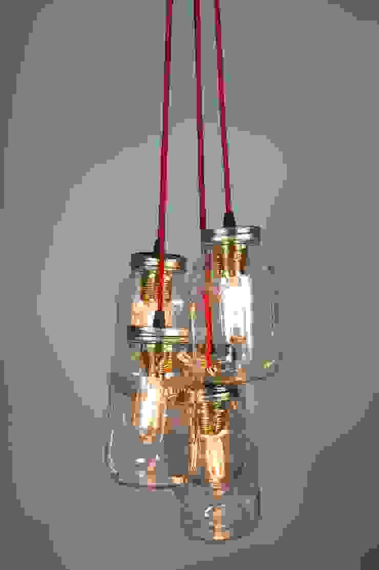 5 Jam Jar Pendant Light par Little Mill House Industriel