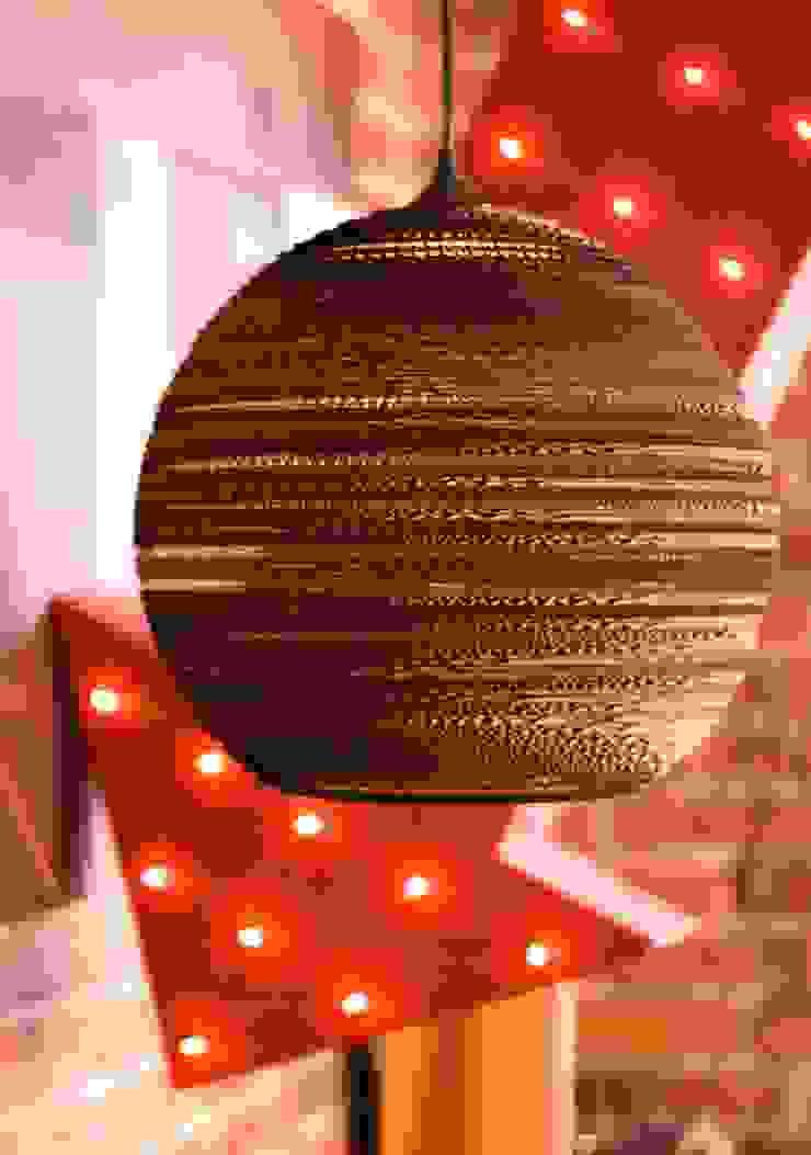 Cardboard Moon Pendant Light by Greypants par Little Mill House Asiatique