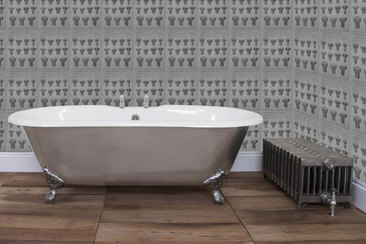 Bisley Full Polished Double Ended Roll Top Cast Iron Bath por UKAA | UK Architectural Antiques Clássico