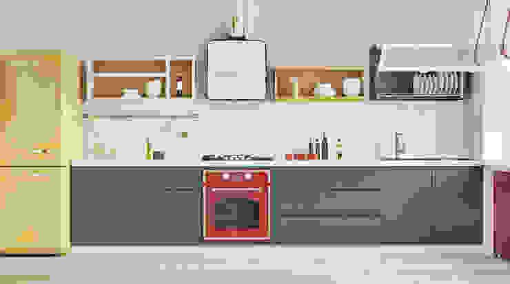 Дизайн кухни в Баку Кухня в стиле модерн от ILKIN GURBANOV Studio Модерн