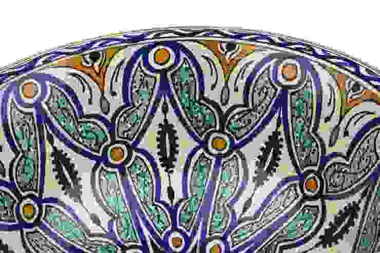 Ruqya - Wzorzysta umywalka designerska II od Kolory Maroka Egzotyczny