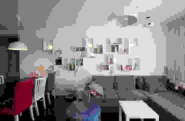Salas / recibidores de estilo  por KLIFF DESIGN, Escandinavo
