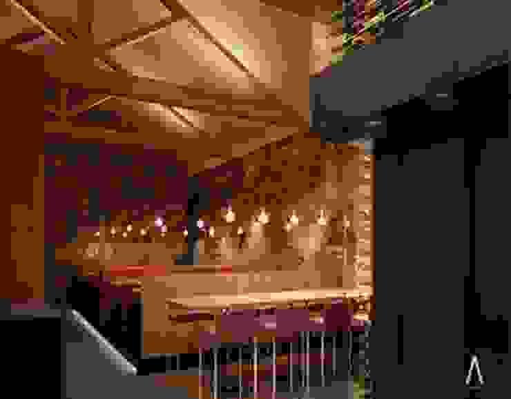 Restaurante en París Gastronomía de estilo rústico de Acontraluz Studio Rústico