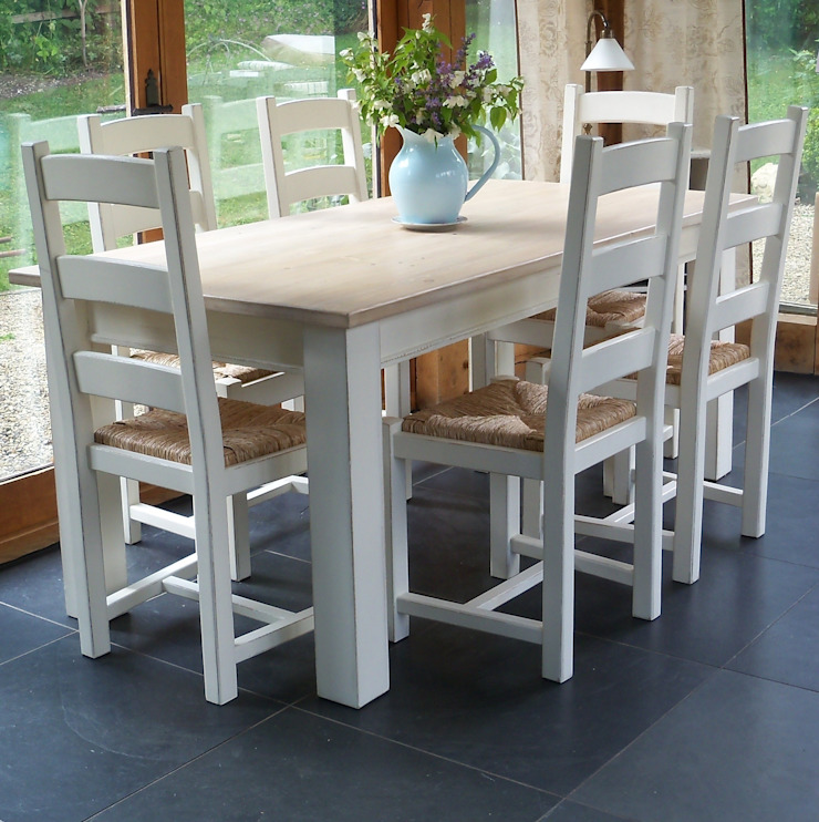 Hand Painted Classic Shaker Table: country  by Rectory Blue, Country
