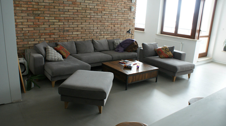 t design Industrial style living room