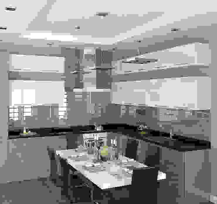 Кухня-столовая в частном доме Столовая комната в стиле минимализм от homify Минимализм