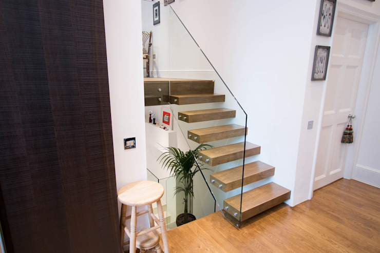 Floating Stairway what connects three Floors: modern  by Railing London Ltd, Modern