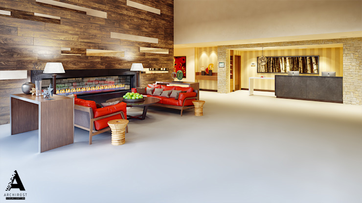 Визуализация коммерческой недвижимости Гостиная в стиле модерн от Аrchirost Модерн
