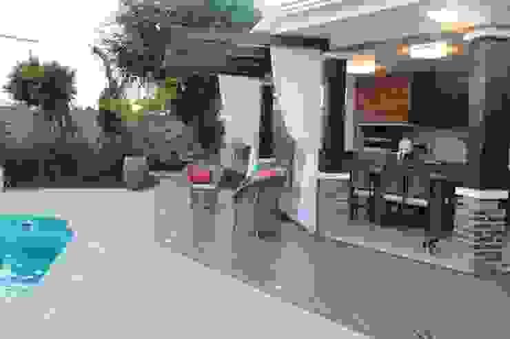 Projeto Varanda Varandas, alpendres e terraços campestres por Apê 102 Arquitetura Campestre