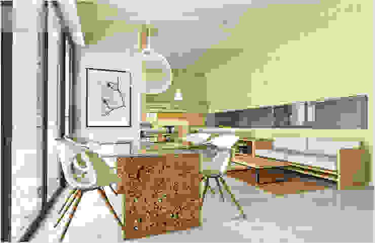 Salle à manger minimaliste par ILKIN GURBANOV Studio Minimaliste