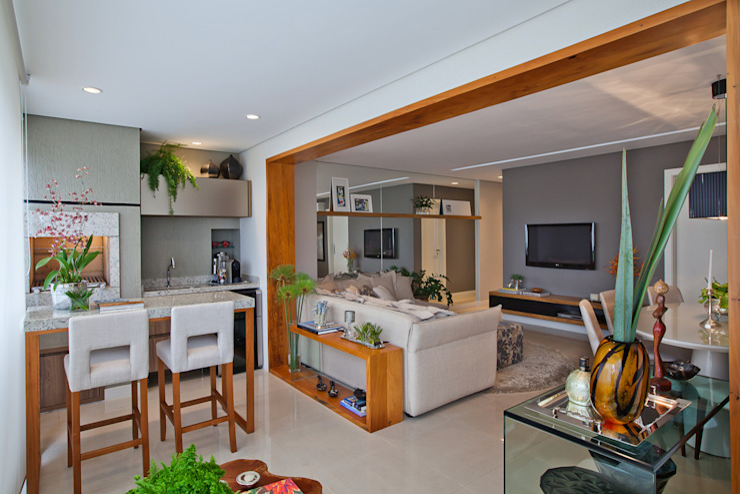 901 Varandas, alpendres e terraços modernos por IE Arquitetura + Interiores Moderno