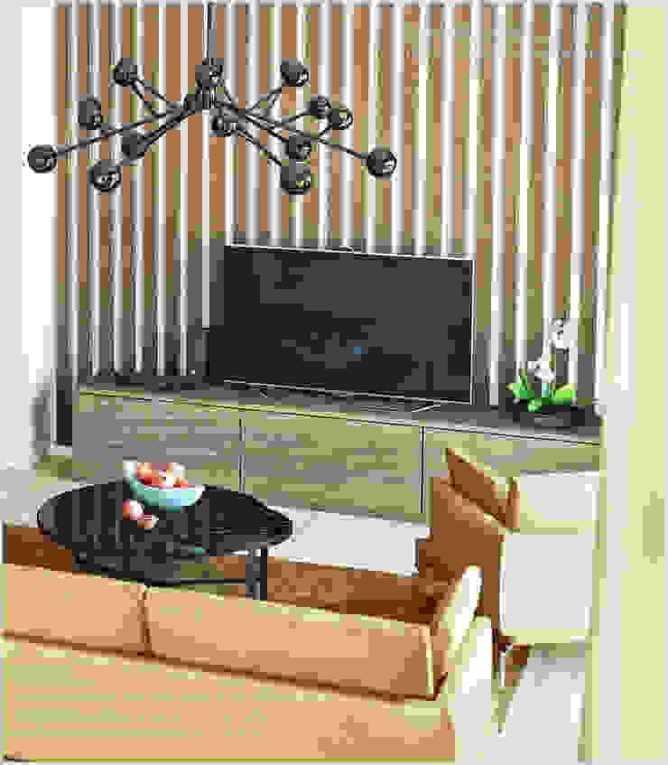 Квартира в Баку <q>Yeni Hayat</q> Гостиная в стиле минимализм от ILKIN GURBANOV Studio Минимализм