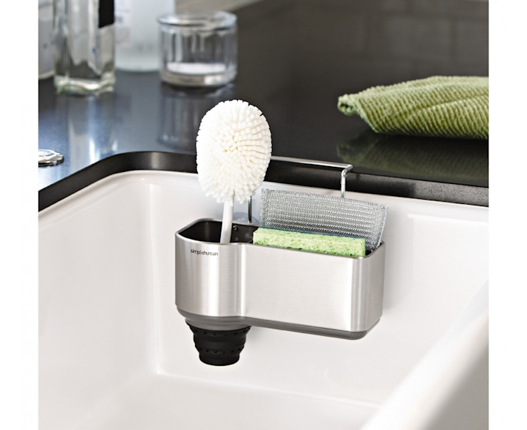 sink caddy, stainless steel: modern  by simplehuman, Modern