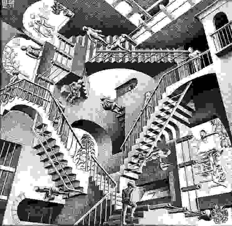 As famosas escadas de Escher por Peter Boos Moderno
