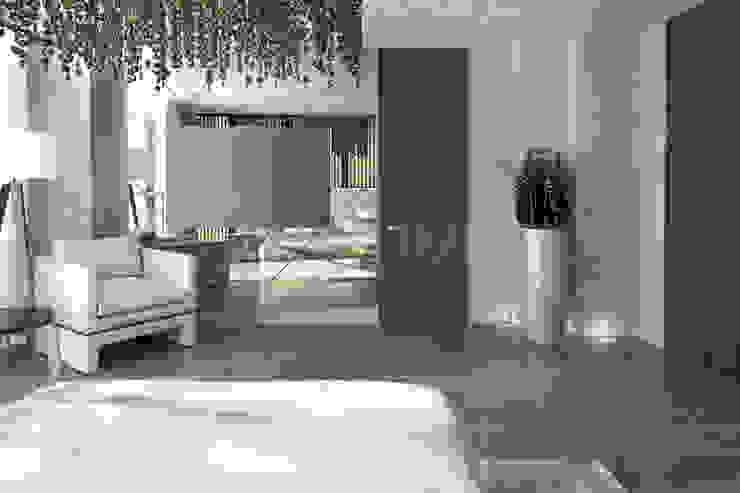 Camera da letto eclettica di Anton Neumark Eclettico
