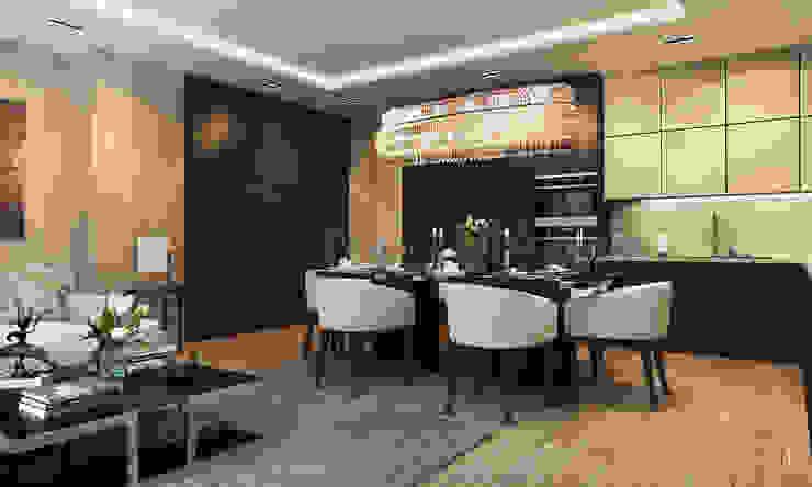 Sala da pranzo eclettica di Anton Neumark Eclettico