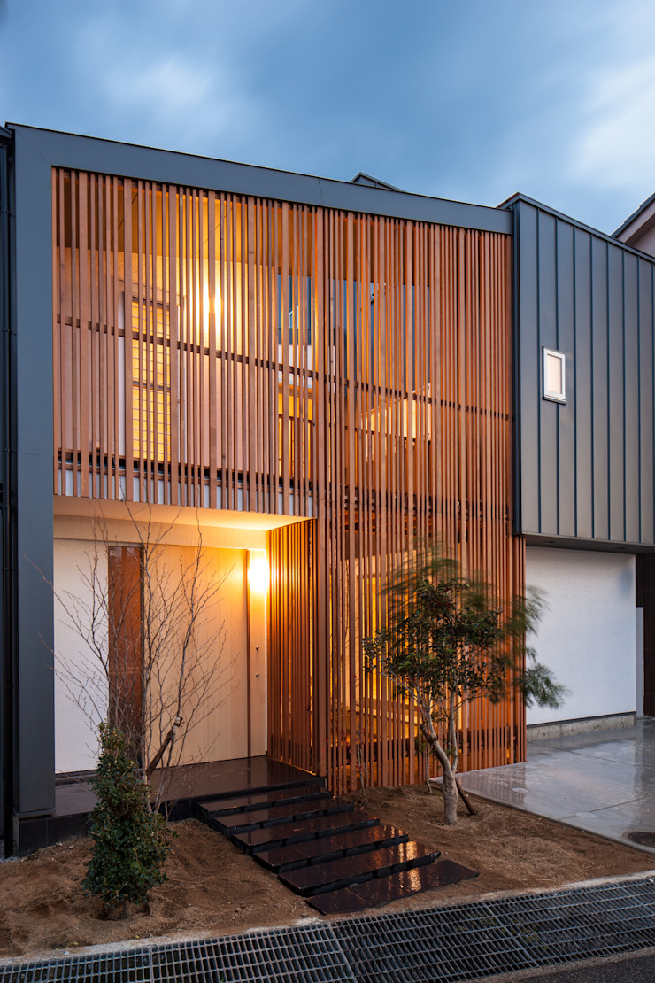 岸和田の家 外観 モダンな 家 の 神谷徹建築設計事務所 モダン