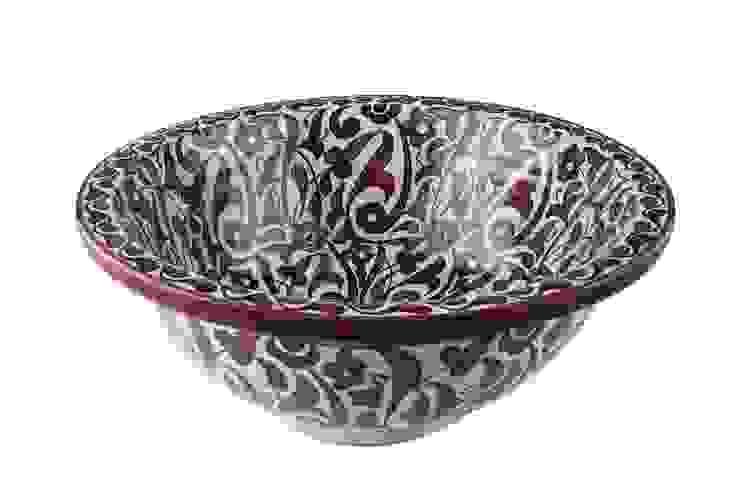 Feza - Ręcznie malowana wzorzysta umywalka od Kolory Maroka Egzotyczny