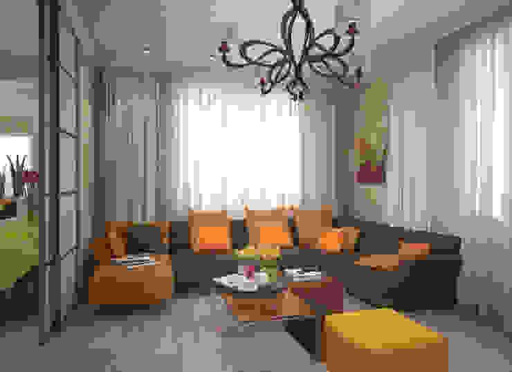 Квартира 65 кв.м. в Серебряных ключах Гостиная в стиле модерн от Студия дизайна Виктории Силаевой Модерн