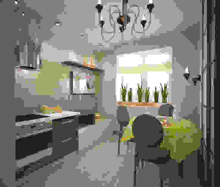 Квартира 65 кв.м. в Серебряных ключах Кухня в стиле модерн от Студия дизайна Виктории Силаевой Модерн