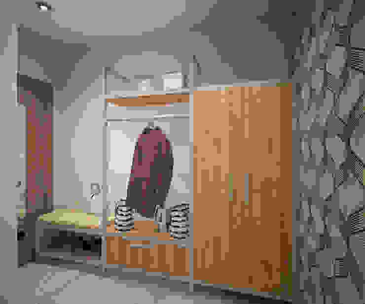 Квартира 65 кв.м. в Серебряных ключах Коридор, прихожая и лестница в модерн стиле от Студия дизайна Виктории Силаевой Модерн