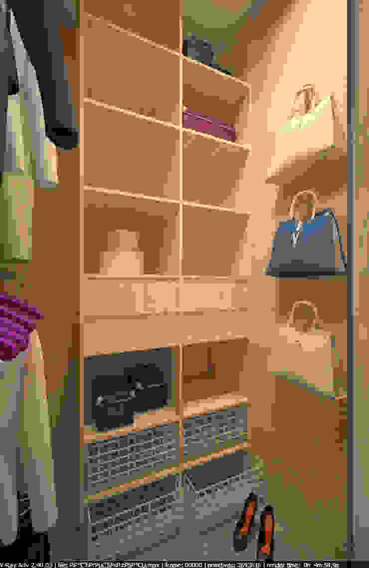 Квартира 65 кв.м. в Серебряных ключах Гардеробная в стиле модерн от Студия дизайна Виктории Силаевой Модерн