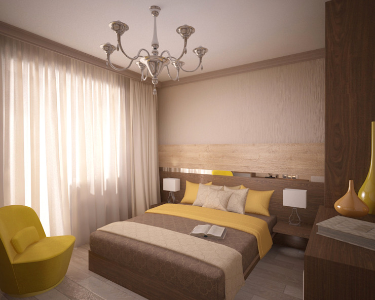 Camera da letto in stile classico di Студия дизайна Виктории Силаевой Classico