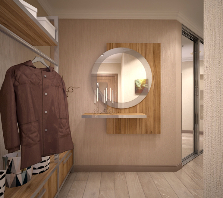 Ruang Ganti oleh Студия дизайна Виктории Силаевой, Minimalis