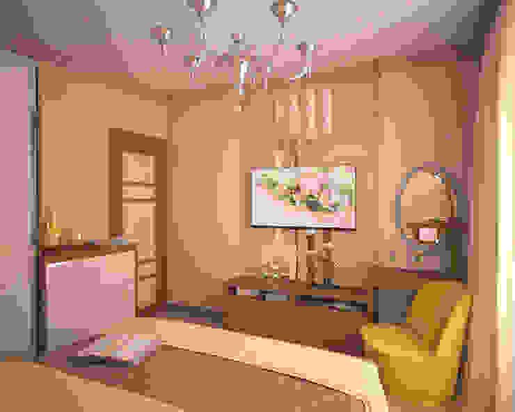 Квартира 65 кв.м. в Серебряных ключах Спальня в классическом стиле от Студия дизайна Виктории Силаевой Классический