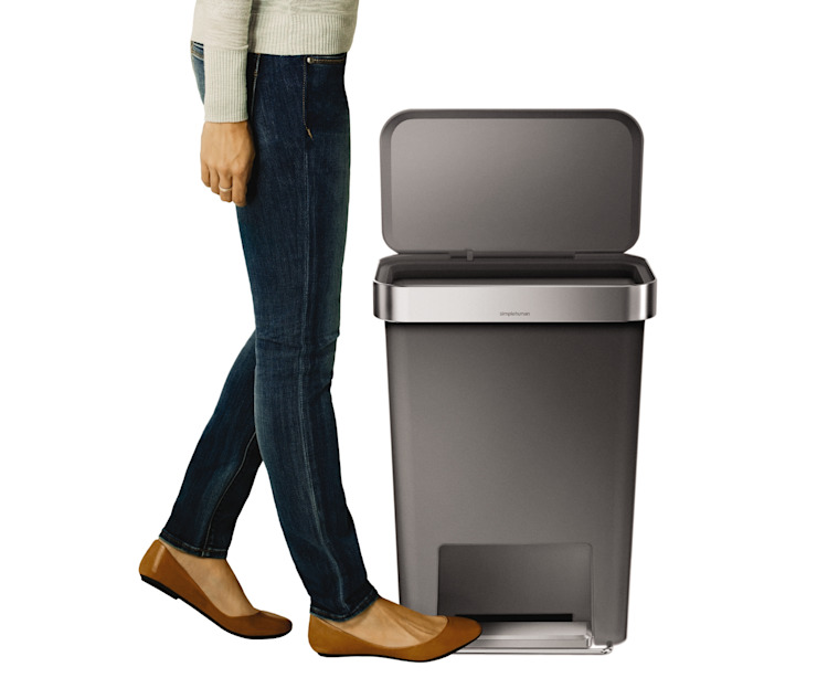 55 litre rectangular pedal bin with liner pocket simplehuman 家居用品儲藏櫃