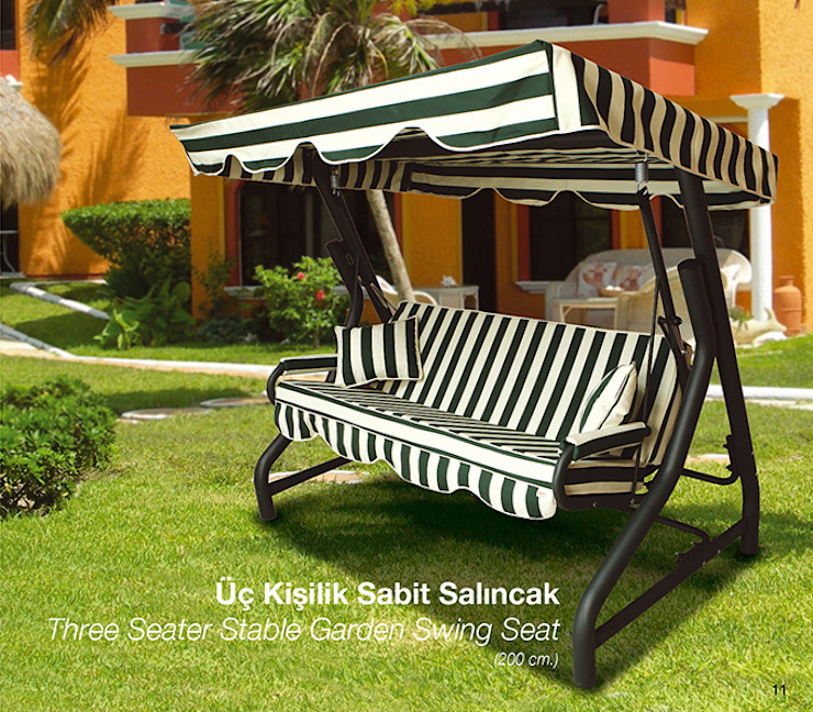 3 Seater Stable Garden Swing Seat de ERİNÖZ OUTDOOR FURNITURE Mediterráneo