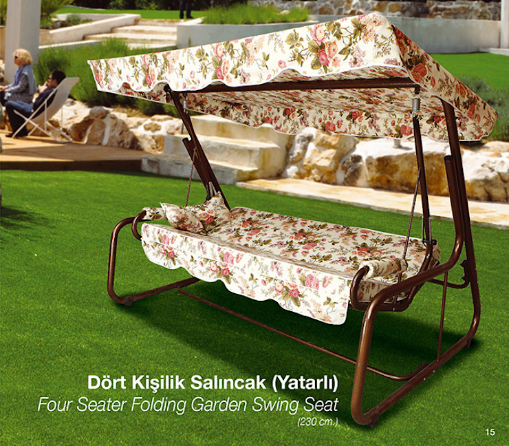 4 Seater Folding Garden Swing Seat ERİNÖZ OUTDOOR FURNITURE Garden Furniture
