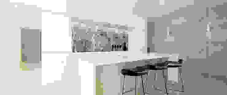 Dom w Żukowie Minimalistyczna kuchnia od Ajot pracownia projektowa Minimalistyczny