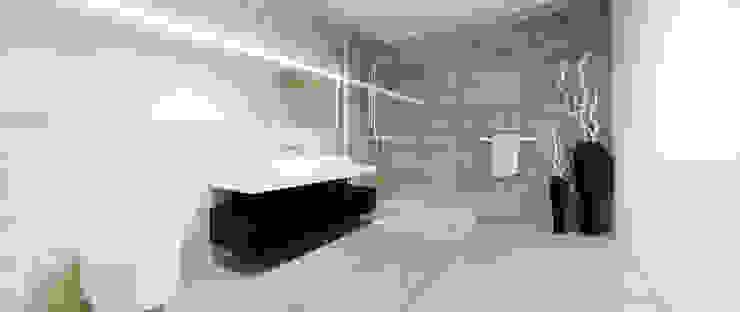 Łazienka gościnna Minimalistyczna łazienka od Ajot pracownia projektowa Minimalistyczny