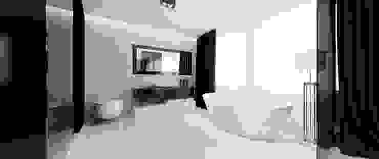Łazienka w sypialni Minimalistyczna łazienka od Ajot pracownia projektowa Minimalistyczny