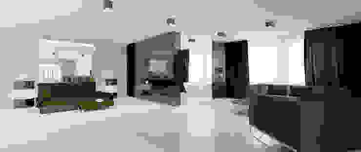Sypialnia Minimalistyczna sypialnia od Ajot pracownia projektowa Minimalistyczny