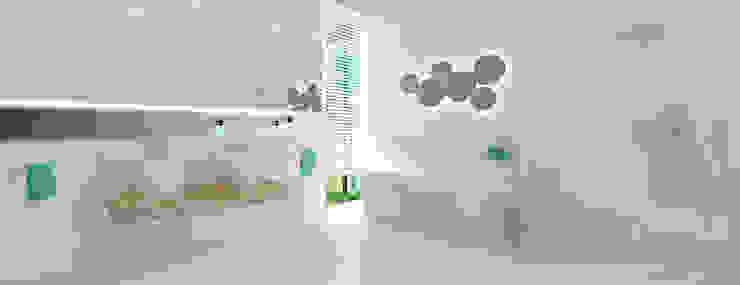 Łazienkka przy sypialni Minimalistyczna łazienka od Ajot pracownia projektowa Minimalistyczny