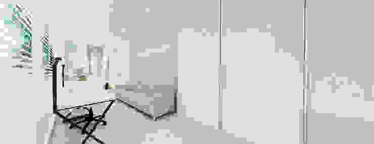 gabinet Minimalistyczny pokój multimedialny od Ajot pracownia projektowa Minimalistyczny