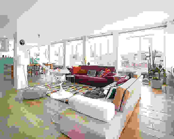 Scandinavian style living room by nimú equipo de diseño Scandinavian