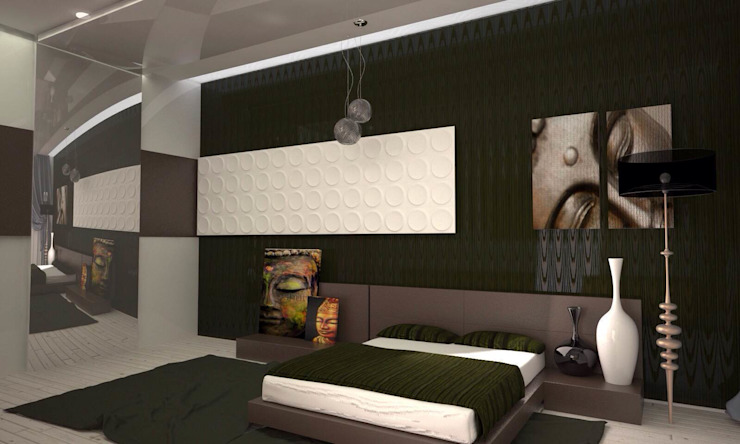 Asian style bedroom by DS Fresco Asian