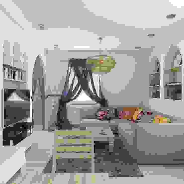 квартира в восточном стиле Гостиная в азиатском стиле от архитектор-дизайнер Алтоцкий Михаил (Altotskiy Mikhail) Азиатский