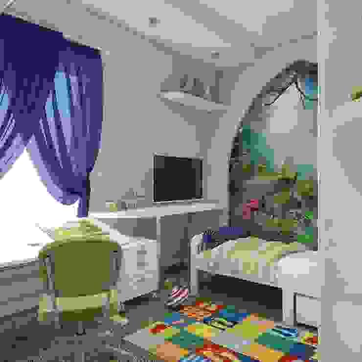 квартира в восточном стиле Детская комната в азиатском стиле от архитектор-дизайнер Алтоцкий Михаил (Altotskiy Mikhail) Азиатский