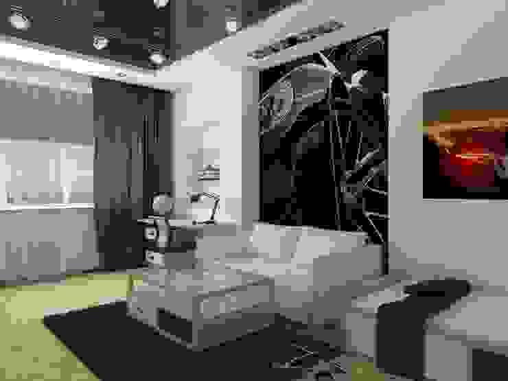 квартира в стиле минимализм 2 Детская комнатa в стиле минимализм от архитектор-дизайнер Алтоцкий Михаил (Altotskiy Mikhail) Минимализм