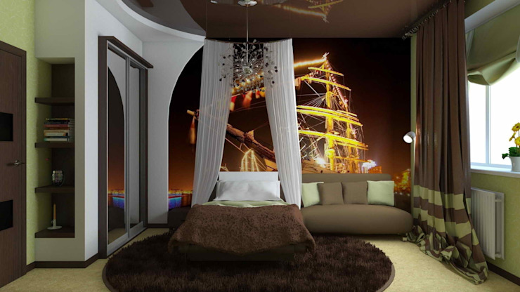 Eclectic style nursery/kids room by архитектор-дизайнер Алтоцкий Михаил (Altotskiy Mikhail) Eclectic