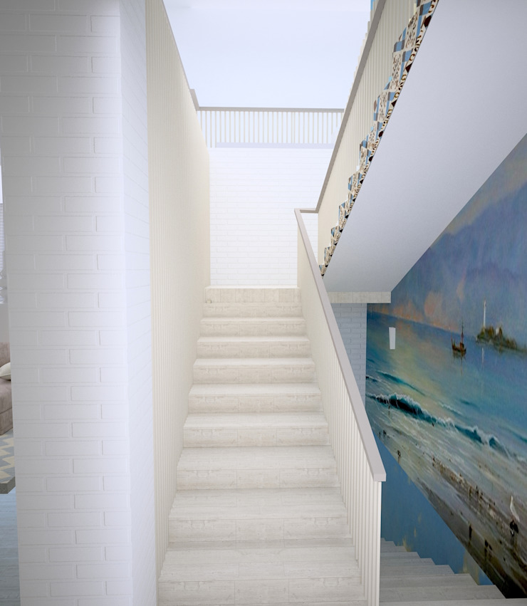 Средиземноморье в г.Анапа Коридор, прихожая и лестница в средиземноморском стиле от DS Fresco Средиземноморский