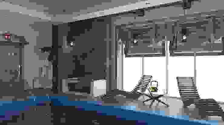 бани и бассейны Бассейн в стиле кантри от архитектор-дизайнер Алтоцкий Михаил (Altotskiy Mikhail) Кантри