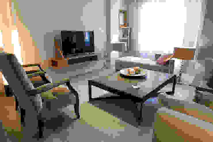 Reforma de vivienda integral. ELEGANT. SALÓN Livings modernos: Ideas, imágenes y decoración de R-decora - Obras, Reformas y Decoración Moderno
