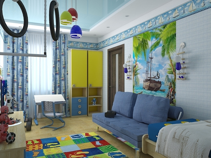 детские Детская комнатa в тропическом стиле от архитектор-дизайнер Алтоцкий Михаил (Altotskiy Mikhail) Тропический