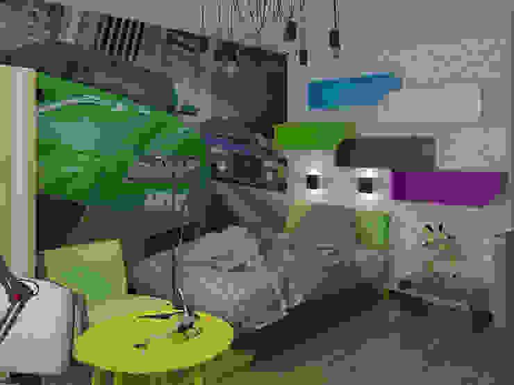 детские Детская комната в стиле лофт от архитектор-дизайнер Алтоцкий Михаил (Altotskiy Mikhail) Лофт